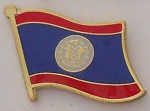 Belize Country Flag Enamel Pin Badge